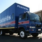 Smaller Pickfords fleet vehicle used for service delivery.